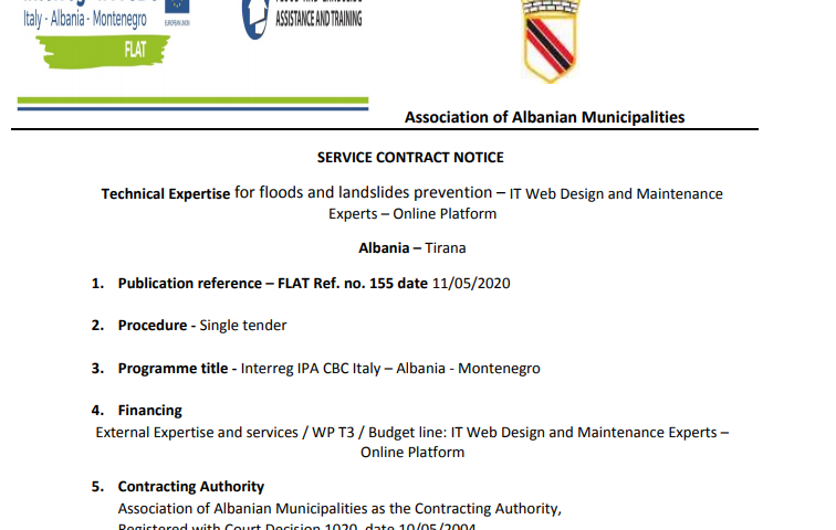 Technical Expertise for floods and landslides prevention – IT Web Design and Maintenance Experts – Online Platform